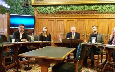 يتحدث مدير فوبزو في مجلس العموم البريطاني عن الذكرى 70 للنكبة.