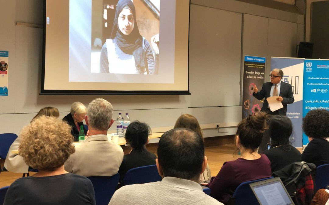 فوبزو و UCU يطلقون سلسلة الذكرى السنوية مع فعالية الأونروا لتعليم اللاجئين