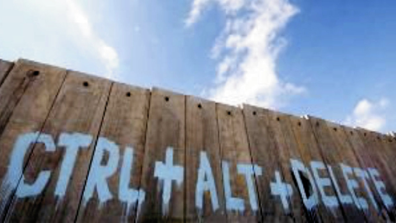 Separation Wall graffiti: Ctrl+Alt+Delete