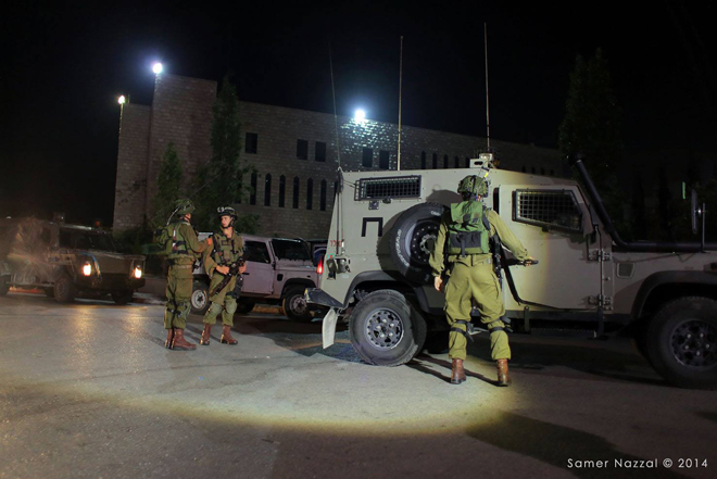 Israeli incursion into Birzeit University campus