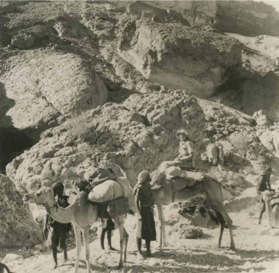 Doreen Ingrams travelling on a camel