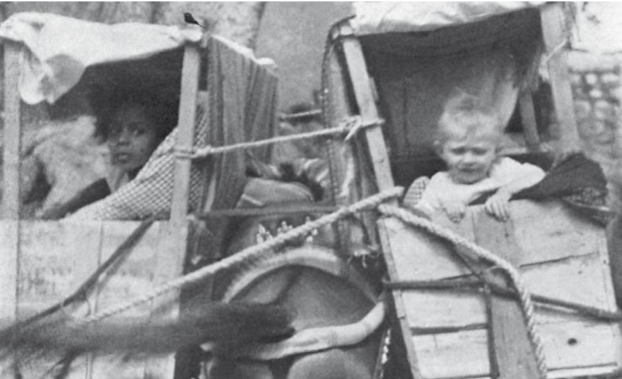 Zahra and Leila Ingrams as children
