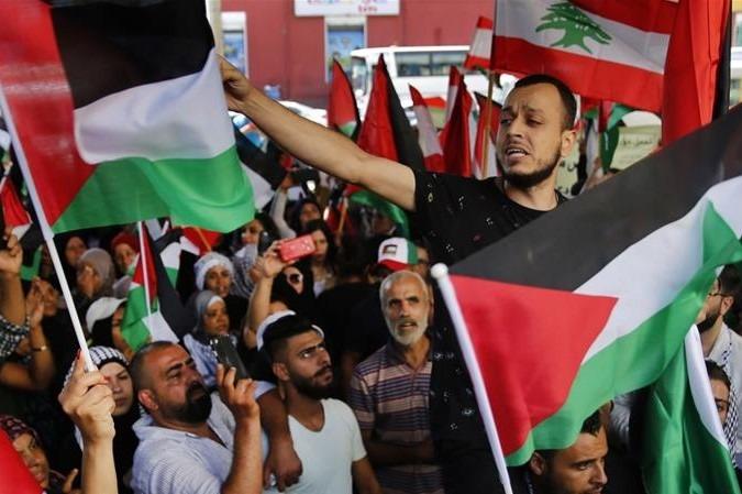 Palestinian protest in Lebanon